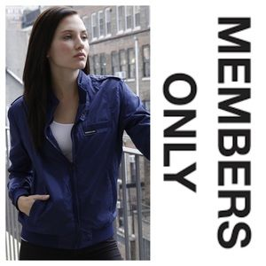 Members Only Iconic Racer Jacket Blue Azure (XL)